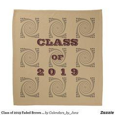 Shop Class of 2019 Faded Brown Bandana by Janz created by Calendars_by_Janz. Create Your Own, Create Yourself, Shop Class, Class Of 2019, Dog Bowtie, School Spirit, Graduation Gifts, Birthday Celebration, Bandana