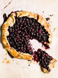 Blueberry galette is a rustic and easy way to make pie. Fresh blueberries in pie crust and baked in bourbon, makes a quick easy and delicious dessert!