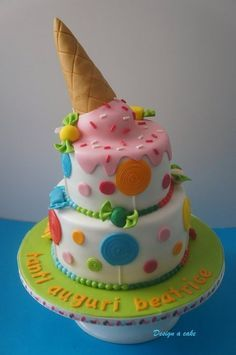 ice cream cake - by Designacake @ CakesDecor.com - cake decorating website