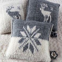 poduszki wykonane rĘcznie weŁna 40x40 cm 3szt Sweater Pillow, Knit Pillow, Crochet Cushions, Knit Crochet, Christmas Knitting Patterns, Crochet Patterns, Christmas Cushions, Knitted Afghans, Crochet Home Decor