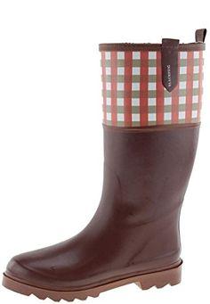 AJS Botte Vichy marron, Gummistiefel - http://on-line-kaufen.de/ajs/ajs-botte-vichy-marron-gummistiefel