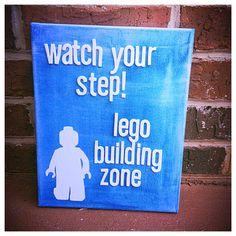 Lego man on 8 x 10 canvas by shopsignlanguage on Etsy, $14.00 Kaleb!!!!! Lol