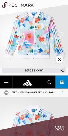 Floral adidas jacket Not used still has tags on adidas Jackets & Coats