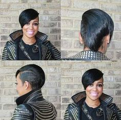 Monica shows off fly new haircut at Funk Fest in Atlanta written by Joi Pearson… Shaved Side Hairstyles, Mohawk Hairstyles, My Hairstyle, Short Weave Hairstyles, Short Sassy Hair, Short Hair Cuts, Short Hair Styles, Pixie Styles, Coiffure Hair