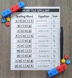 I have several favorite ETTC products BUT this one is definitely at the top of my list: Editable Spelling Activities for Any List of Words! Just type, print, and GO! You will have immediate access to 60+ printables within this resource. I really enjoy doing this one shown as my students can build words and add up the value of the words. I love that I am sneaking in math, too. Spelling Lists, Spelling Activities, Spelling Words, Spelling Practice, Vocabulary Activities, Preschool Activities, Silly Sentences
