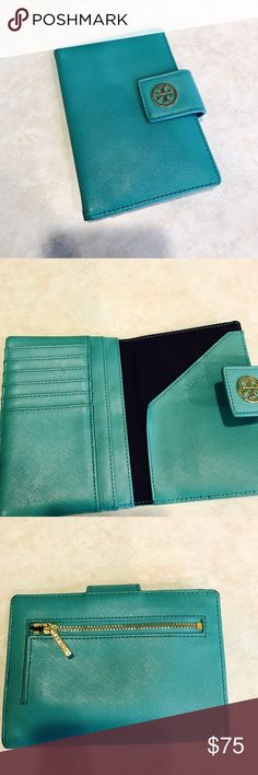 Leather Passport Case - vintage glasses blue by VIDA VIDA XUlZ2Kgxu
