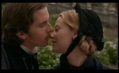 """Christian Bale (Theodore """"Laurie"""" Laurence) & Samantha Mathis (Amy March) - Little Women directed by Gillian Armstrong (1994) - #louisamayalcott"""