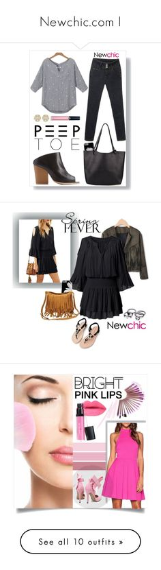 """""""Newchic.com I"""" by by-jwp ❤ liked on Polyvore featuring Qupid, Armani Beauty, contest, peeptoe, contestentry, newchic, ruffles, beauty, NARS Cosmetics and pinklips"""