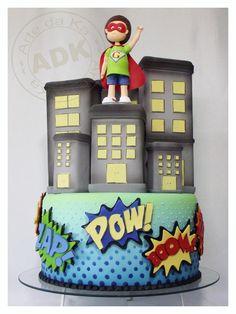 @KatieSheaDesign ♡❤ ❥   super hero cake
