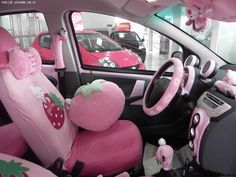Hello Kitty BYD Pink Car Hell from China - autoevolution Car Interior Accessories, Car Accessories For Girls, Vehicle Accessories, Pretty Cars, Cute Cars, Helmet Store, Dream Cars, Car Interior Decor, Interior Ideas