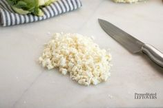 How to Make Cauliflower Rice - A Low-Carb Rice Substitute Veggie Side Dishes, Healthy Dishes, Healthy Meals, Healthy Food, Healthy Recipes, Low Carb Recipes, Diet Recipes, Recipies, Cooking Recipes