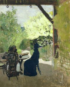 jean-édouard vuillard(1868–1940), under the portico, 1899-1900. oil on board, 60.96 x 73.66 cm. private collection  http://www.the-athenaeum.org/art/detail.php?ID=35810