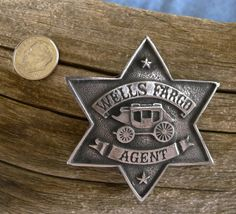 Wells Fargo Badge with pin back by COOLSTUFFGOODPRICES on Etsy