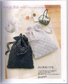 Japanese crochet:  great little bags.  Devilbox