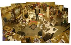 Banksy - Inside that is what my art studio is going to look like Banksy Graffiti, Banksy Book, Arte Banksy, Bansky, Famous Graffiti Artists, Street Artists, Artist Art, Artist At Work, Amazing Street Art