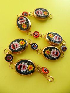 Stunning micro mosaic bracelet  Florentine Italian by RAKcreations