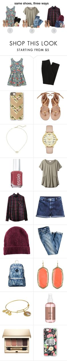 """""""same shoes three ways! comment your pick c:"""" by simply-positive-prep ❤ liked on Polyvore featuring Chicnova Fashion, Casetify, Kendra Scott, Kate Spade, Essie, EAST, H&M, J.Crew, TOMS and Alex and Ani"""