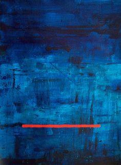 Bleu Mood . Brian Elston . 30 x 22 acrylic on watercolor paper .  www.elstonart.com