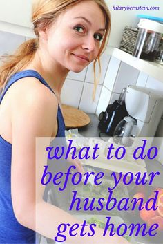 As a stay-at-home mom, I do wonder what I can do to make my husband's day better. I like these ideas of what I can do before my husband gets home.