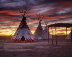 Cheyenne tipis at the Plains Conservation Center in Aurora, Colorado.Photo by Hans Watson