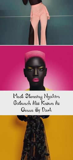 Meet Stunning Nyakim Gatwech Also Known As Queen Of Dark - bemethis Dark Skin Beauty, Dark Nails, Oprah Winfrey, Pink Lips, Black Is Beautiful, Meet, Plus Size, Pure Products, Hot Pink Lipsticks