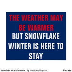 #ClimateMarch The weather may be warmer, but snowflake winter is here to stay poster #Resist #Persist #Protest #resistance