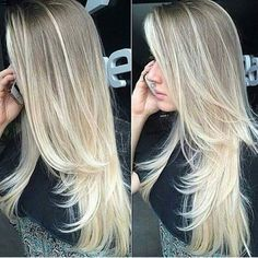Corte y color. Beautiful Long Hair, Gorgeous Hair, Silky Hair, Dream Hair, Layered Hair, Love Hair, Hair Day, Pretty Hairstyles, Swagg
