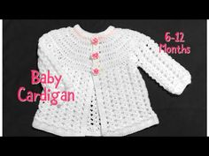Crochet baby cardigan, matinee coat or jacket months fast and easy Welcome to my channel Crochet for Baby. In todays tutorial I will show you how to crochet this easy to do cardigan or baby jacket for a baby girl from months. Crochet Baby Cardigan Free Pattern, Crochet Baby Jacket, Crochet Baby Sweaters, Gilet Crochet, Baby Sweater Patterns, Baby Girl Crochet, Crochet Baby Clothes, Crochet Baby Hats, Baby Knitting