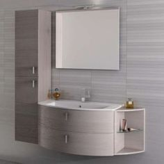 Arredo mobile bagno Twist 1 - Iotti Bathroom Cost, Master Bathroom Shower, Small Bathroom, Wardrobe Furniture, Shower Shelves, Tiny Spaces, Furniture Design, Interior Decorating, Sweet Home