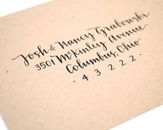 Sugar and Chic: Modern Calligraphy