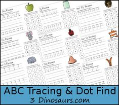 So many free printables for finding and tracing letters!