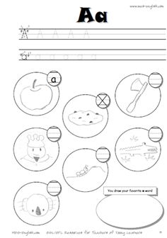 Printable alphabet worksheets with hard consonants and short vowels, letter writing practice sheets