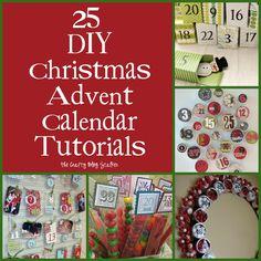 DIY Christmas Advent Calendar Tutorials