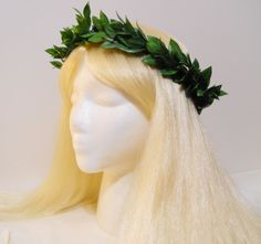 Green Leaf Crown for a Greek Roman Goddess by MyFairyJewelry