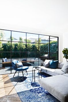 A traditional Edwardian semi was given a modern revamp - Quarter Tutorial and Ideas Australian Architecture, Australian Homes, Italian Living Room, Steel Frame Doors, Open Plan Kitchen Living Room, Windows In Kitchen, House Extensions, Victorian Homes, Windows And Doors