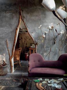 The fantastical house of Antwerp ceramicist Roos van de Velde Home Room Design, Home Interior Design, Interior Architecture, Interior And Exterior, Interior Decorating, Cob House Interior, House Furniture Design, House Rooms, Interior Inspiration