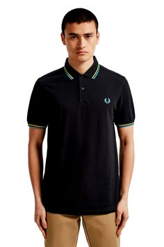 Shop The Fred Perry Shirt from The Men's Collection. Fred Perry Polo Shirts, Fred Perry Shirt, Celebrity Closets, Celebrity Style, Twin Tips, Tennis Fashion, Nike Outfits, Donna Karan, Men's Collection