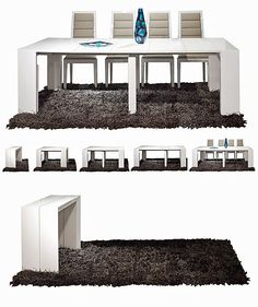 Extreme folding table. See this and more alternatives >> http://www.godownsize.com/goliath-table-extreme-folding-table #spacesaving #smallspace