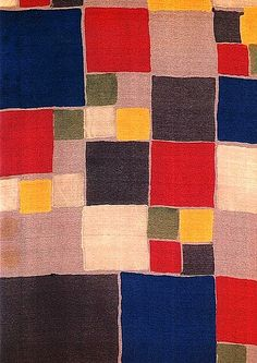 "Sonia Delaunay is shamefully overlooked and when she is mentioned it goes hand in hand with the phrase ""wife of"" (Robert Delaunay). Sonia Delaunay, Robert Delaunay, Textile Patterns, Textile Design, Blanket Patterns, Bauhaus, Erich Mendelsohn, Celtic Quilt, Stage Set Design"