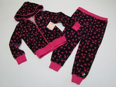 NWT Juicy Couture 2 Pc Athletic Jog Jogging Set Toddler Girls 4T $88 #JuicyCouture #Everyday