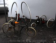 Solifague Design Steam Engine Motorcycle