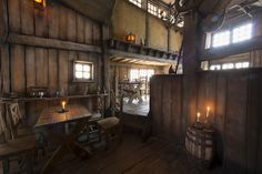 No detail too small in this interior design for the pirate tavern