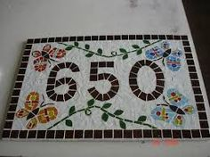 Image result for mosaic address plaque quirky