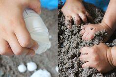 kinetischen Sand mit Rasierschaum selbermachen