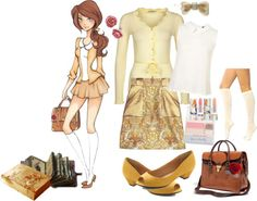 """Disney High- Belle"" by misssally ❤ liked on Polyvore"