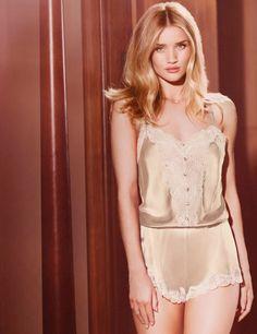 rosie huntington autograph lingerie spring2 Rosie Huntington Whiteley Models Autograph Lingerie Spring 2014 Line