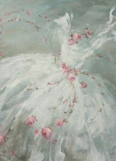"""A lovely painting that is ethereal by artist Debi Coules """"Pink Dreams"""" Decoupage, Laurence Amelie, Painting Inspiration, Painting & Drawing, Dress Painting, Painting Flowers, Amazing Art, Shabby Chic, Illustration Art"""