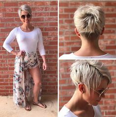 The pixie cut is versatility.Need to find pixie cuts and pixie hairstyles inspiration?Click our list of 80 trending pixie haircuts for women now. Short Pixie Haircuts, Layered Haircuts, Short Hairstyles For Women, Hairstyles Haircuts, Short Hair Cuts, Short Hair Styles, Curly Haircuts, Razor Cut Hair, Shaggy Haircuts
