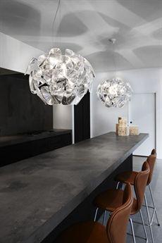 Lampor över köksbänk