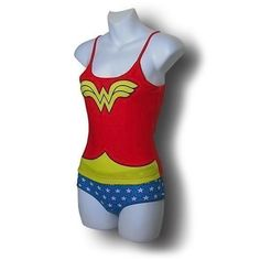 wonder woman cami/panti  now if only this was a swimsuit....  scratch that... i'd probably never wear it